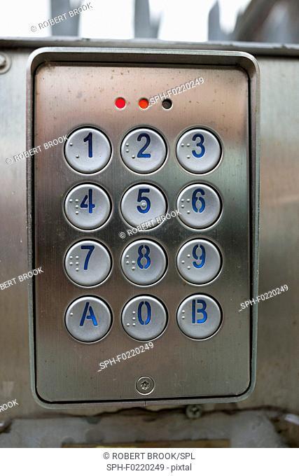 Intercom keypad with braille