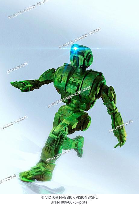 Artwork of a military robot