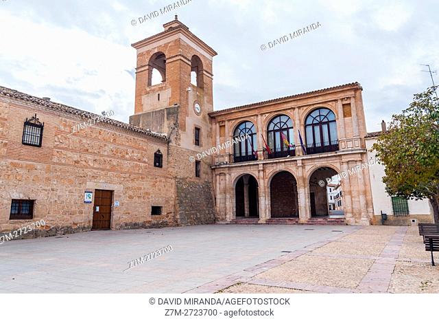 Ayuntamiento, City Hall, Villanueva de la Jara, Cuenca province, Castile la Mancha, Spain. Historic and Artistic Heritage