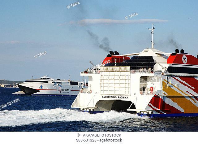 Ferry going to Ceuta and Tangier. Algeciras. Cadiz province. Spain