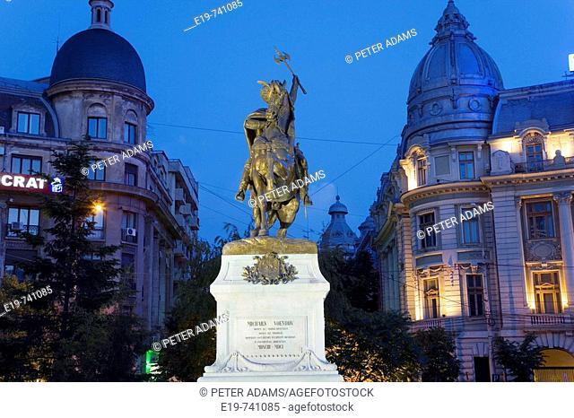 Monument to Michael the Brave in front of University, Piata Universitatii, Bucharest, Romania