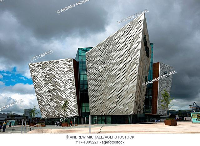 Titanic Belfast visitor attraction and monument in Titanic quarter of Belfast, Northern Ireland