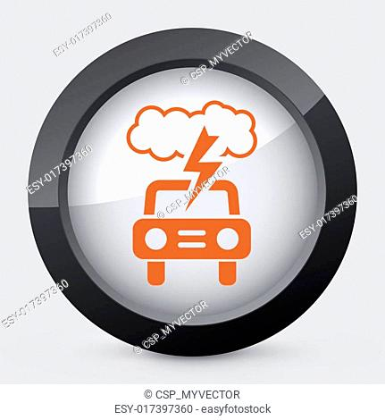 Vector orange and gray isolated icon