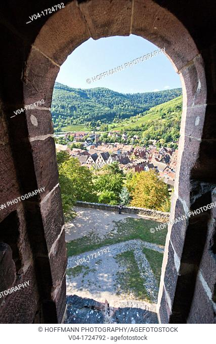 View over Kaysersberg, Alsace, France, Europe