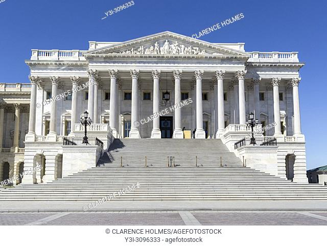 The north wing (Senate wing) of the U. S. Capitol Building in Washington, DC