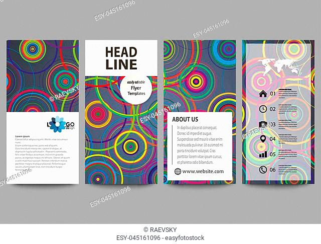 Flyers set, modern banners. Business templates. Cover design template, easy editable abstract vector layouts. Bright color background in minimalist style made...