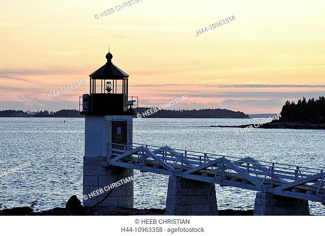 USA, United States, America, East Coast, New England, coastal, rocky, coast, Marshall Point, Rockland, lighthouse
