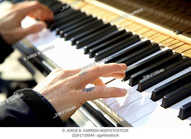 Piano man at Washington Square Park