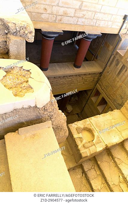 Archeology. Knossos Palace circa1500 BC Crete Greece