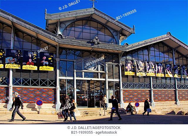 'Les Halles' (19th century), the main market at Angoulême, Charente, Poitou-Charentes, France