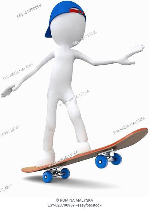 skateboarder holding the balance