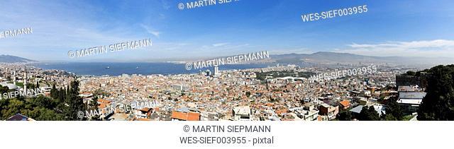Turkey, Izmir, View of Kadifekale Castle