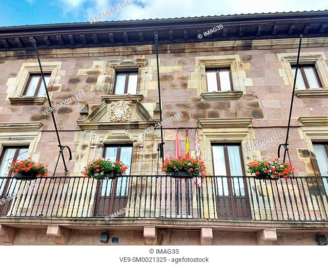 Baztán town hall, Elizondo village, Baztan valley, Navarre, Spain