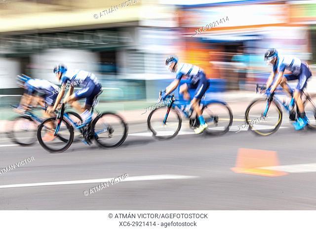 LXII Tenerife island cycling tour 2017 held in Tejina municipality