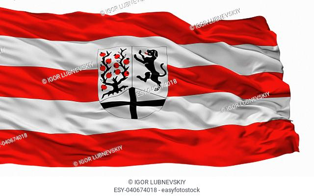 Delbruck City Flag, Country Germany, Isolated On White Background