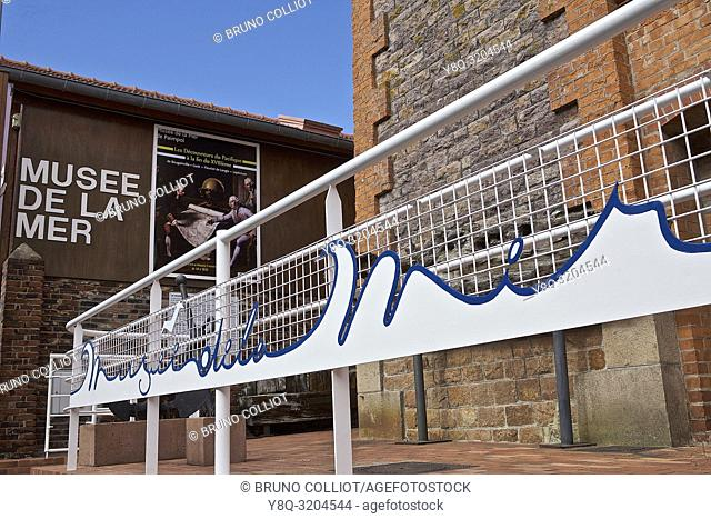 architecture of the sea museum in Paimpol, cote d'armor, brittany, france
