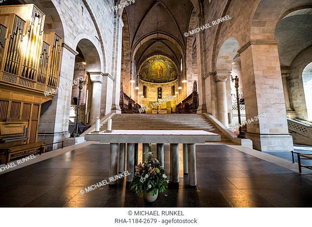 Interior of the Lund Cathedral, Lund, Sweden, Scandinavia, Europe