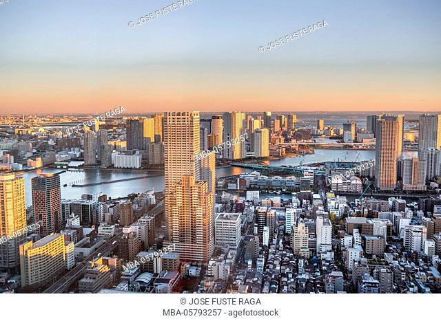 Japan, Tokyo City, Kachidoki area