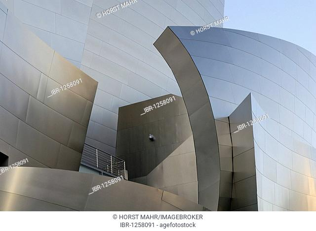 Walt Disney Concert Hall, detail, architect Frank O. Gehry, Los Angeles, California, USA