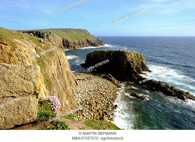 Cliff coast, Land's End, Cornwall, England, United Kingdom