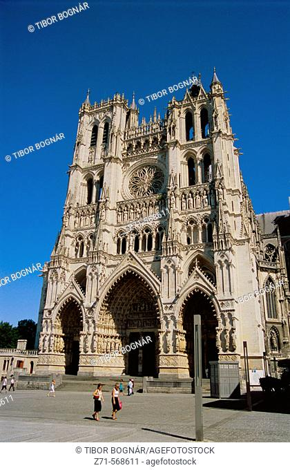 Notre Dame cathedral, Amiens. Picardie, France