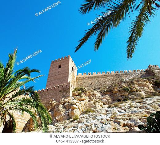 Alcazaba, fortress built in 773 by the Amir of Cordoba  Almeria  Andalusia, Spain