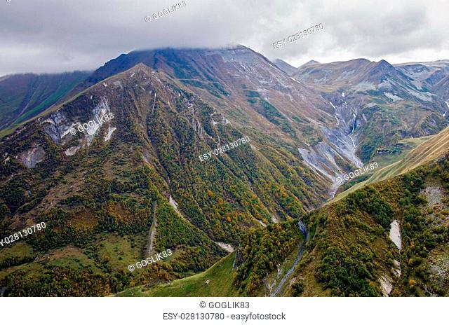 Mountains in Georgia.Kazbegi region