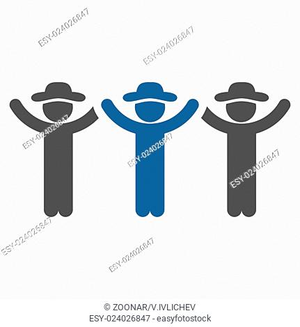 Friends Hands Up Roundelay Icon
