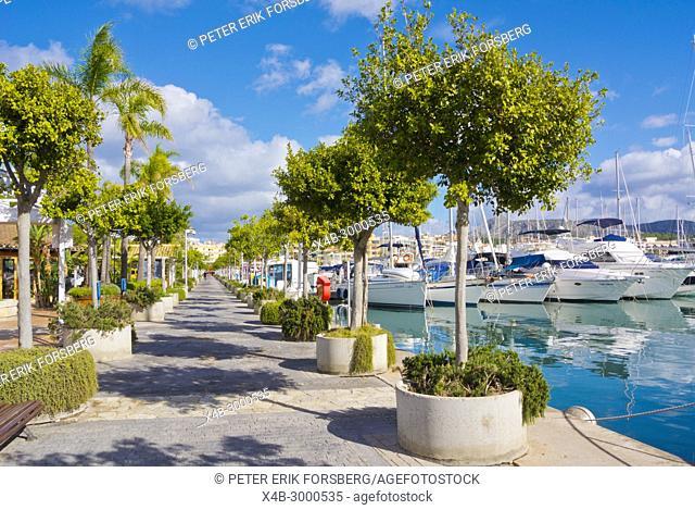Passeig Maritim, Paseo Maritimo, Alcudiamar, Port d'Alcudia, Mallorca, Balearic islands, Spain