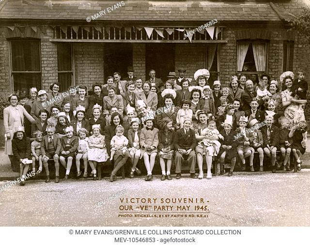 A Victory Souvenir - a large group of women, children and older men (most of the men of 'fighting age' would still have been at the front) - all in their very...
