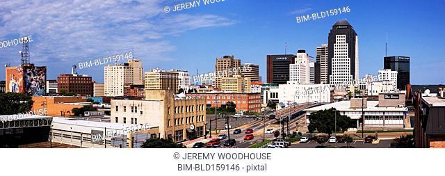Panoramic view of Shreveport cityscape, Louisiana, United States