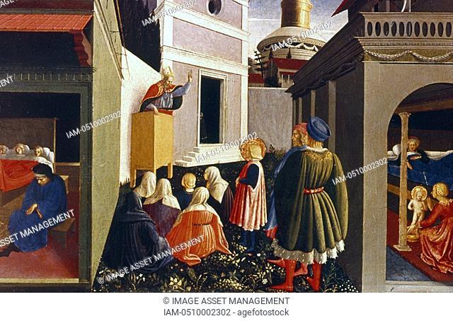 Fra Angelico Guido di Pietro/Giovanni da Fiesole c1400-55 Italian painter  'The Vocation of St Nicholas' Perugia triptych Vatican Museum, Rome