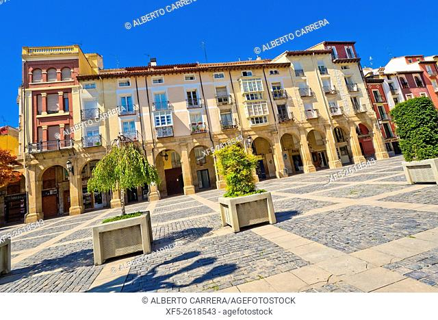 Market Square, Plaza del Mercado, Typical Architecture, Street Scene, Logroño, La Rioja, Spain, Europe