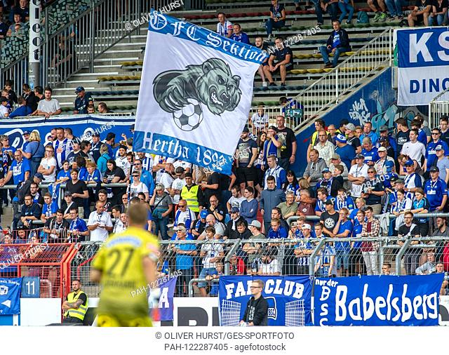 Flag Hertha, Fans GES / Football / KSC Blitz Tournament: SK Sturm Graz - Hertha BSC Berlin, 13.07.2019 Football / Soccer: Short time Tournament: Graz vs Hertha
