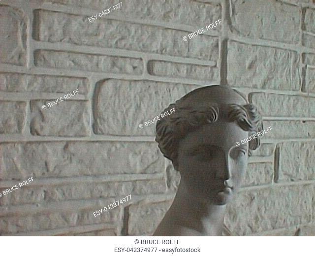 Greek or Roman Marble Statue of Woman