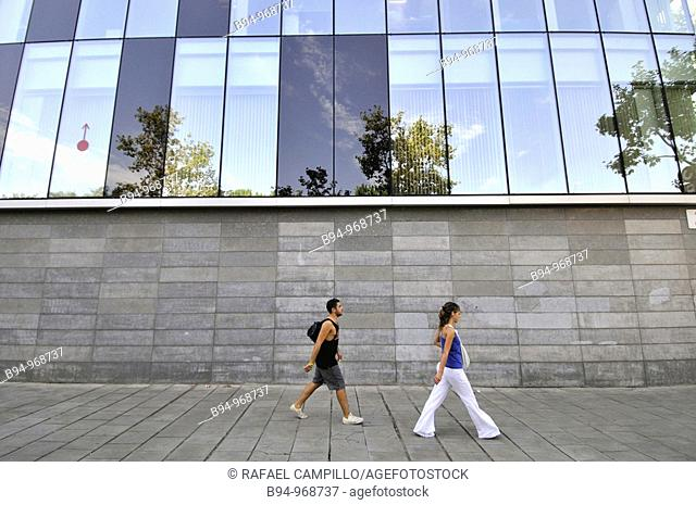 People walking down the street. Barcelona, Catalonia, Spain