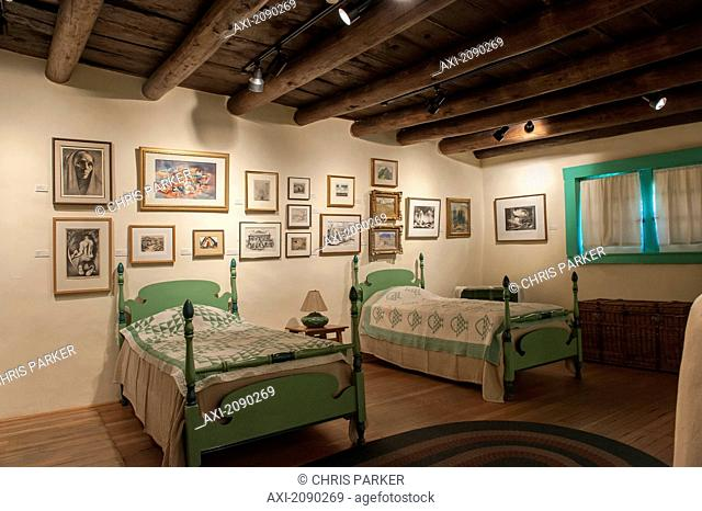 E. L. Blumenschein Home & Museum Of Painter Ernest L In Blumenschein, Taos, New Mexico, Usa