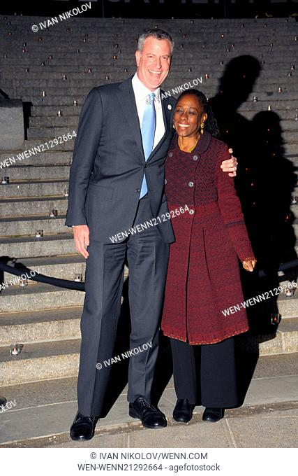 2014 Tribeca Film Festival Vanity Fair Party - Arrivals Featuring: Bill De Blasio,Chirlane De Blasio Where: Manhattan, New York