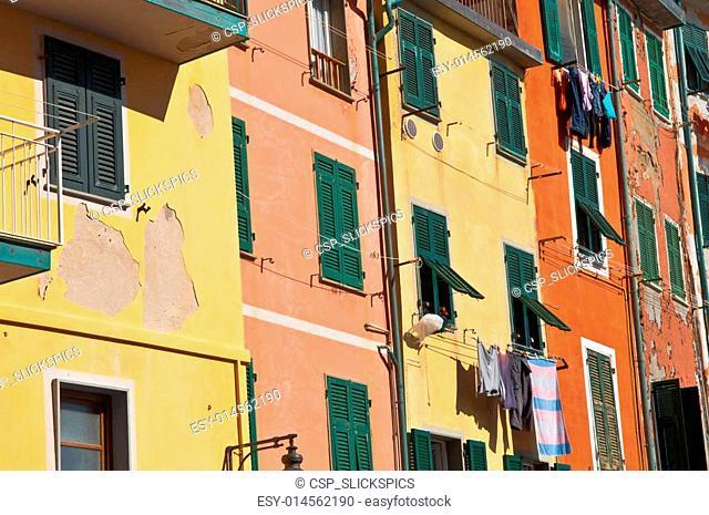 Cinque Terre Colorful Homes