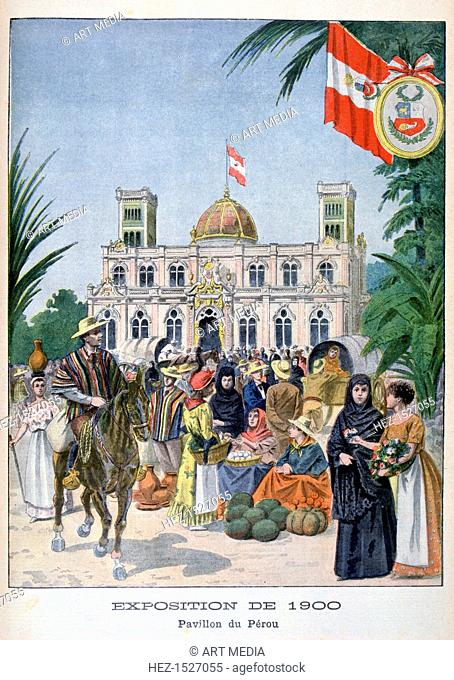The Peruvian pavilion at the Universal Exhibition of 1900, Paris, 1900. Exposition Universelle of 1900 was a world's fair held in Paris, France