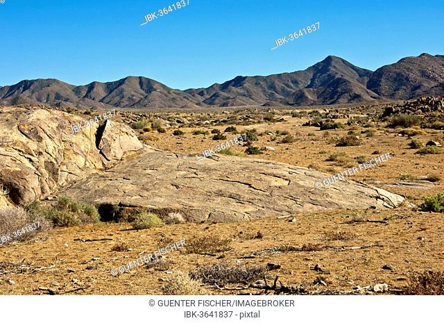Desert-like landscape with barren hills in Richtersveld, |Ai-|Ais Richtersveld Transfrontier Park, Northern Cape, South Africa
