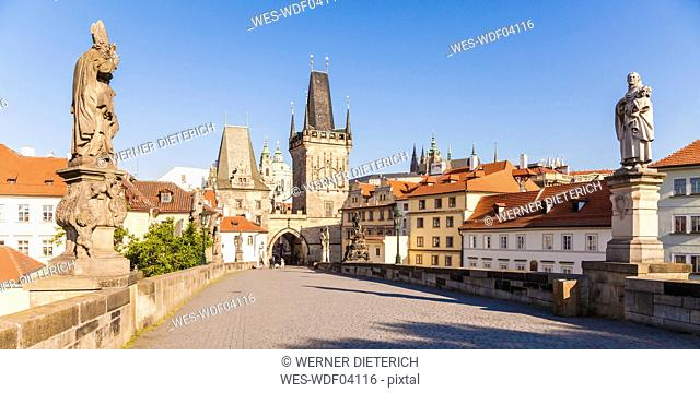 Czech Republic, Prague, Hradcany, Kleinseite Bridge Tower