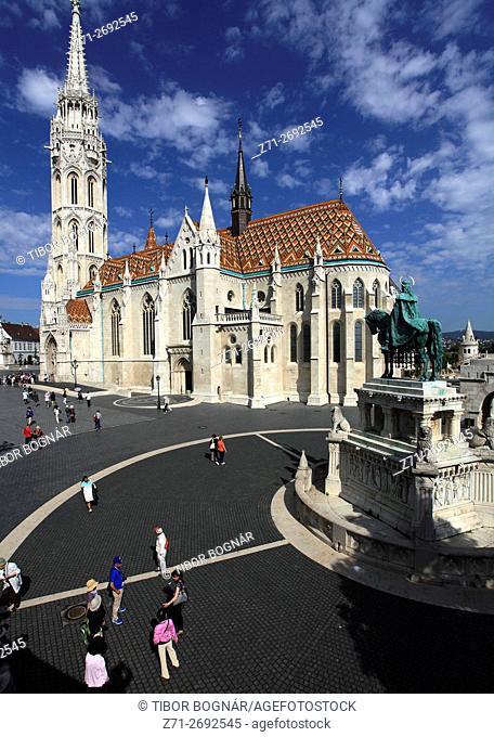 Hungary, Budapest, Matthias Church, exterior,