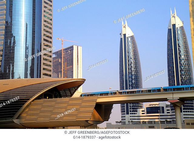 United Arab Emirates, U A E , UAE, Middle East, Dubai, Trade Centre, Sheikh Zayed Road, Financial Centre Metro Station, Red Line, subway, public transportation