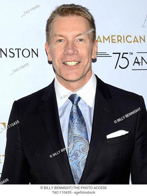 Michael Moser arrives at the American Ballet Theatre 75th Anniversary Holiday Benefit at the Beverly Hilton Hotel in Beverly Hills California on December 8