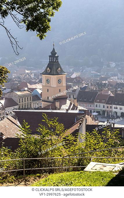 View from over of Brasov district, Transylvania, Romania