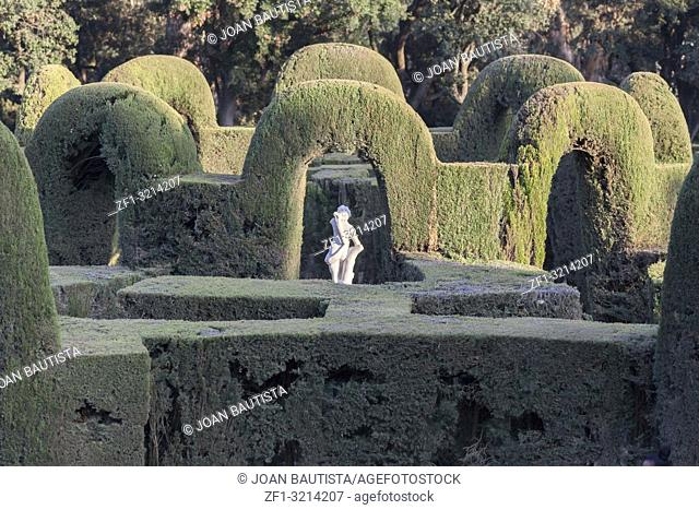 Park and garden labyrinth,Parc laberint Horta,Barcelona. Park and garden labyrinth,Parc laberint Horta,Barcelona