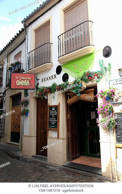 Facade of a Taberna de Cordoba, Andalusia, Spain