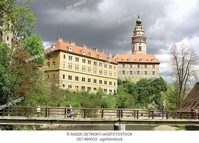 Castle in Cesky Krumlov. Czech Republic. Central Europe