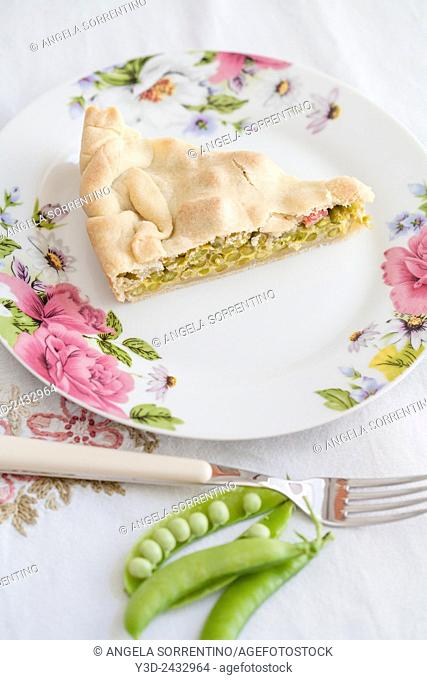 Peas and Salami Pie